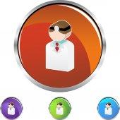 Doctor web icon — Stock Vector