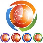Tachometer web icon — Stock Vector