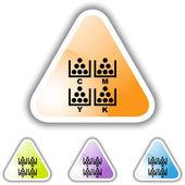 CMYK Printing button set — Stock Vector