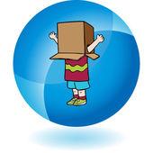 Box Boy web icon — Stok Vektör