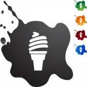 Ice Cream button — Vector de stock