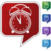 Alarm clock Speech Balloon Icon Set — Stock Vector