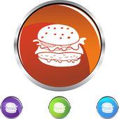 Burger web icon — Stock Vector