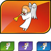 Angel web icon — Stock Vector