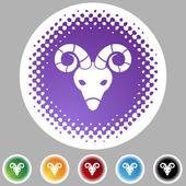 Aries web button — Vetor de Stock