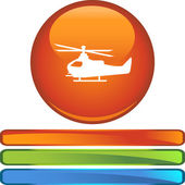 Helicopter web button — Stock Vector