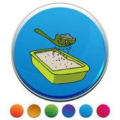 Kitty Litter Sifter Button Set — Stock Vector