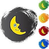 Crescent Moon web icon — Vetor de Stock