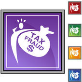 Tax Fraud web icon — Stock Vector