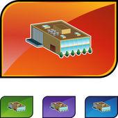 Company web icon — Stock Vector