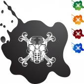 Skull and Crossbones icon — Stock Vector