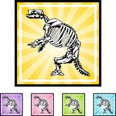 Fossil Bones web button — Stock Vector