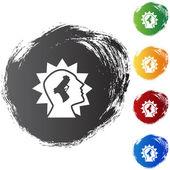 Gunshot Injury web icon — Stock Vector