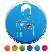 Pacemaker Button Set — Stock Vector