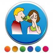 Bad Breath Button Set — Stock Vector