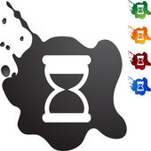 Hourglass web button — Stock Vector