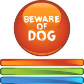 Beware of Dog colorful icon — Stockvector
