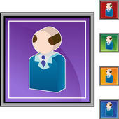 Senior Businessman web icon — Stock Vector