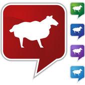 Sheep Speech Balloon Icon Set — Stock Vector