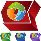 Återvinning web pilknappen — Stockvektor