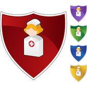 Nurse web icon — ストックベクタ