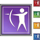 Archery Sport  web icon — Stock Vector