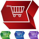 Shopping Cart web button — Stock Vector