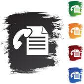 FAX Paper icon button — Stock Vector