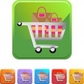 Shopping Cart web icon — Vettoriale Stock