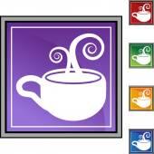 咖啡杯按钮 — 图库矢量图片