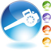 Lawn Blower Crystal Icon — Stock Vector