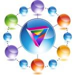 Gay Triangle icon button — Stock Vector #64216297