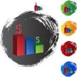 Bar Chart web icon — Stock Vector #64216303