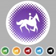 Horse Jockey Icon — Stock Vector #64217421