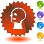 X-ray skull web button — Stock Vector #64217709