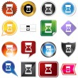 Hourglass timer variety icon set — Vecteur #64218495