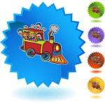 Train Ride web icon — Stock Vector #64218853