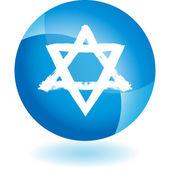 Joodse Star web pictogram — Stockvector