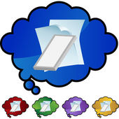Air Filter Document web button — Stock Vector