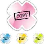 Copy web icon — Stock Vector