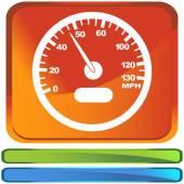 Speedometer web icon — Vecteur