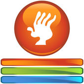 Arthritis web icon — Stockvektor