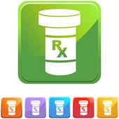 Medication web icon — Stock Vector