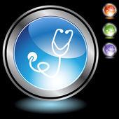 听诊器 web 按钮 — 图库矢量图片