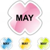 5 月の web ボタン — ストックベクタ