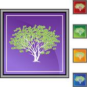 Money tree web icon — Stock Vector