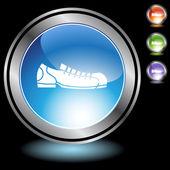 Bowlingová obuv ikony tlačítko — Stock vektor