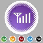 Phone Signal web button — Stock Vector
