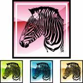 Przycisk web Zebra — Wektor stockowy