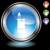 Lighter button set — Stock Vector